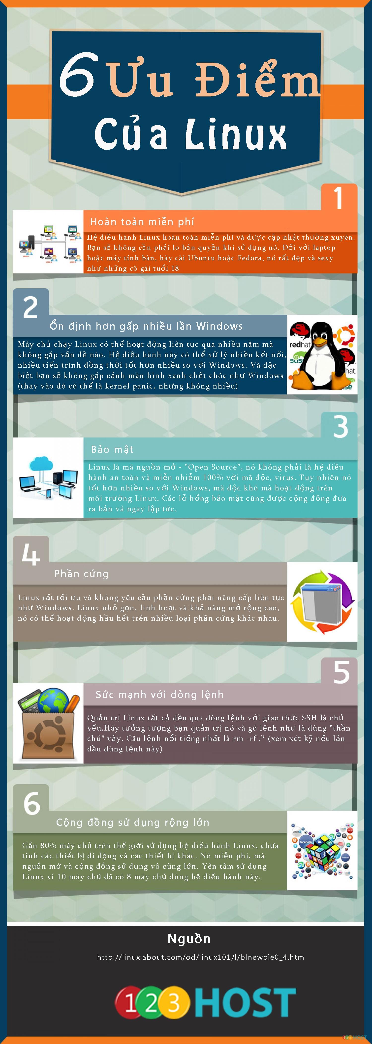 6 ưu điểm của Linux